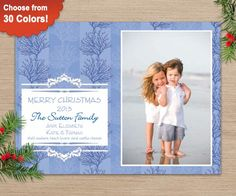 Beach Lovers Photo Christmas, comes with matching accessories, choose from 30 colors!