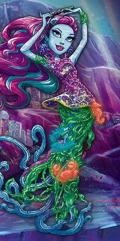 All about Monster High: Posea Reef Arte Monster High, Monster High School, Monster High Dolls, Personajes Monster High, Novi Stars, Rockabilly Art, Daughter Of Poseidon, Ever After Dolls, Monster Characters