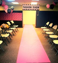 Stage and runway. fashion show birthday party