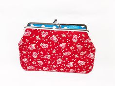 Clipbörse kleine Kosmetiktasche Portemonnaie Clips, Coin Purse, Lunch Box, Wallet, Etsy, Small Makeup Bag, Cotton Textile, Fabrics, Bags