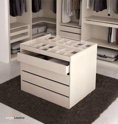 Egelasta · OPEN VESTIDOR 221 · Mueble · Moderno · Madera · Armario · Isla · Laminado · Sintético · Textil · Visón