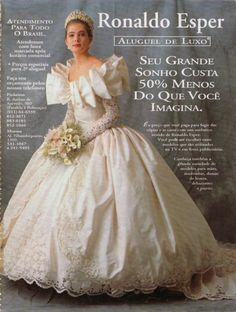 Bridal gowns by Ronaldo Esper, 1993 Retro Wedding Dresses, Bridal Dresses, Vintage Dresses, Chic Vintage Brides, Vintage Bridal, Beautiful Wedding Gowns, Wedding Attire, Bridal Style, 1990s