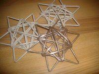 pletení z papíru - hvězda
