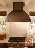 Monterey Copper Range Hood.  Manufactured in Sonoma County California
