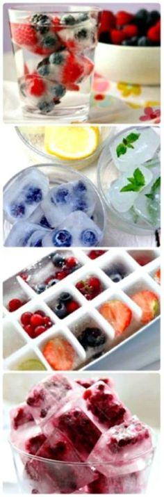 Frozen Fruit Ice Cubes by gena