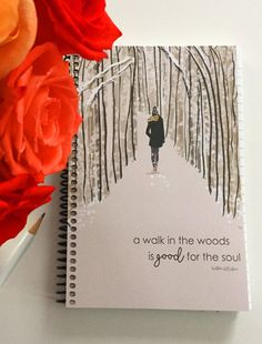 Gratitude Journal - A Walk in the Woods Is Good for the Soul -Gift Ideas - Notebooks - Gifts for Women Teachers - Notting Hill Quotes, Walk In The Woods, Smash Book, Cute Designs, Friendship Quotes, Gifts For Friends, Your Cards, To My Daughter, Daughters