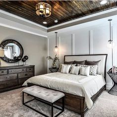 """1,490 Likes, 49 Comments - Always Perfect Sheet/Stay Tuck (@alwaysperfectsheet) on Instagram: """"You can't possibly have a bedroom this cool and not make your bed!!! Dark wood ceilings, moulding…"""""""