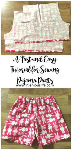 Kids Clothes Week How to Sew PJ Pants Vertical