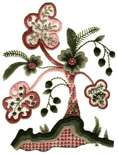 Jacobean Tree Embroidery Kit - a Hand Embroidery Design as an Alternative to Cross-stitch.