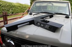 Could do a full length/crossed console to stiffen the roof panel, would make headliner less prone to falling down too Land Cruiser 80, Toyota Land Cruiser, Truck Camping, Jeep Truck, Custom Trucks, Custom Cars, Custom Car Accessories, Jeep Wk, 4x4 Parts