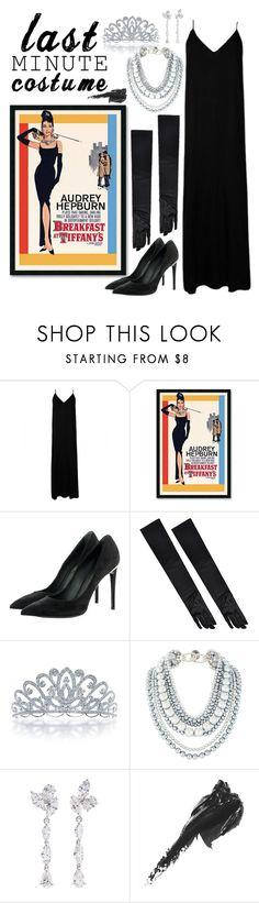"""""""Last Minute Costume: Breakfast at Tiffany's"""" by weightlessdreams ❤ liked on Polyvore featuring Plakinger, Amanti Art, Louis Vuitton, Bling Jewelry, Anyallerie, Bobbi Brown Cosmetics and lastminutecostume"""