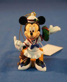 Disney Cruise Line Sailor Minnie Mouse Resin Christmas Ornament #DisneyCruiseLine #ChristmasOrnament