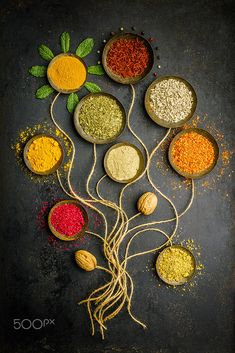 See more details for Various bowls of spices over dark background Arts & Entertainment Stock Photos Photography Ideas At Home, Food Photography Tips, Creative Photography, Photography Photos, Food Wallpaper, Flower Phone Wallpaper, Tienda Natural, 7 Spice, Printable Images