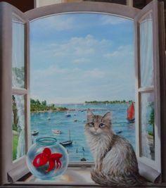 Tableau marine voiles de st tropez sign gastaldi peinture for Peinture sur fenetre