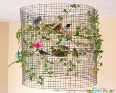 Voici un nouveau DIY très simple à réaliser...une suspension champêtre pleine de charme créée par Madame Cactus pour décorer son atelier :...