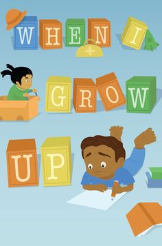 I love the illustrations in this story! When I Grow Up