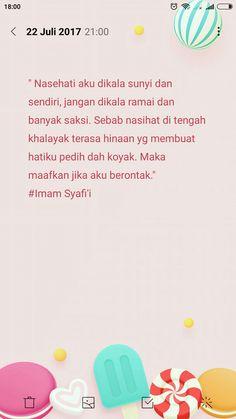 Kalimat bijak Imam Syafi'i ...🌼🌼🌼