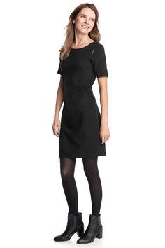Esprit : Vestido elástico con detalles de polipiel en la Online-Shop