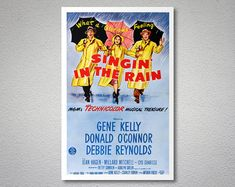 Singing in the Rain Movie Poster - Poster Paper, Sticker or Canvas Print