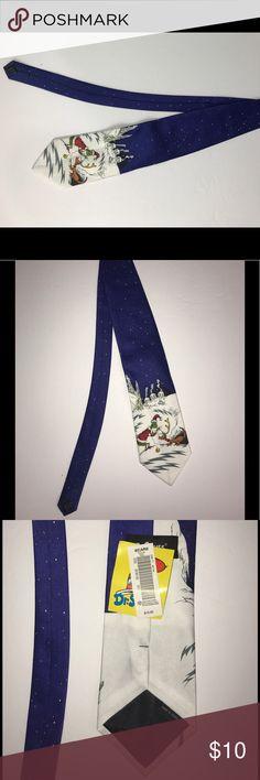 "Dr. Seuss Grinch Who Stole Christmas Necktie Tie New Dr. Seuss Men's Grinch Who Stole Christmas Necktie Blue Tie  Material: 100% Polyester Color: Blue Measurements: Length: 57"" / Width: 4"" Dr. Seuss Accessories Ties"