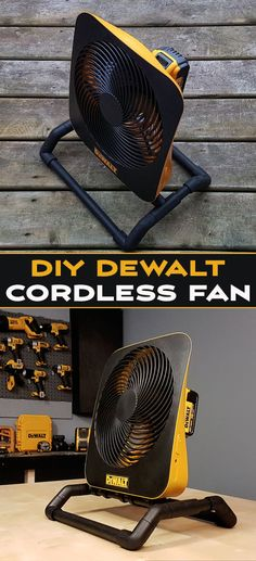How to make this super awesome cordless / corded portable fan that will works with the batteries of your favorite power tools brand , and for less than 50$.