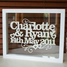 Personalised Wedding Or Anniversary Papercut by Kyleigh's Papercuts, the perfect gift for Explore more unique gifts in our curated marketplace. Wedding Gifts, Our Wedding, Dream Wedding, Wedding Ideas, Tractor Pictures, Floating Frame, Picture Design, Personalized Wedding, Paper Cutting
