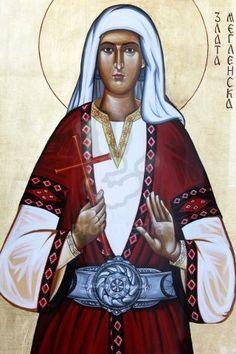 Orthodox icon depicting Saint Zlata Meglenska.