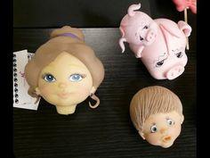 Modelado de caras en #porcelana fría#Webiscuit 2º parte - YouTube