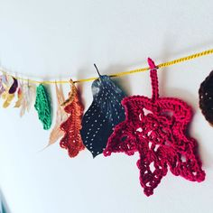 """Alex from Vienna auf Instagram: """"So in love with my autumn garland 🍂🧡🍂 #crochet #crocheting #crochetlove #crochetaddict #crochetastherapy #craftastherapy #crochetgirlgang…"""" Fall Garland, Girl Gang, My Bags, Vienna, Crocheting, Unicorn, Crochet Earrings, Xmas, Tapestry"""