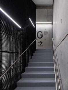 SAP Innovation Center Potsdam Potsdam, 2016 - SCOPE office for architecture Gym Interior, Retail Interior, Interior Exterior, Directional Signage, Wayfinding Signs, Staircase Handrail, Railings, Corridor Design, Innovation Centre