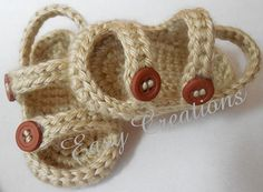 CROCHET PATTERN Baby Sandals Sport 0 to 6 mo boy di EasyCreations