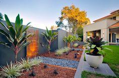 4 Artistic Cool Ideas: Backyard Garden Design How To Make backyard garden layout water features.Small Backyard Garden To Get backyard garden deck trees. Backyard Garden Landscape, Modern Backyard, Modern Landscaping, Backyard Patio, Backyard Landscaping, Landscaping Ideas, Tropical Backyard, Garden Oasis, Big Garden