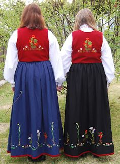 Finnmark Festdrakt (Festival Costume) | Strikkeblogger | Norsk Strikkeblogg oversikt Norway, Costumes, Places, Dress Up Clothes, Costume, Lugares, Suits