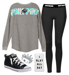 """""""Pink Sweaters Are My Life ♥"""" by avamancuso ❤ liked on Polyvore featuring Topshop and Converse"""