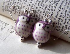 Items similar to Purple Owl Earrings Owl Jewelry Porcelain Cute Little Girls Owls Purple Jewelry on Etsy Owl Jewelry, Unique Jewelry, Jewelry Ideas, Work Wife, Purple Owl, Owl Ornament, Owl Earrings, Baubles And Beads, Owls