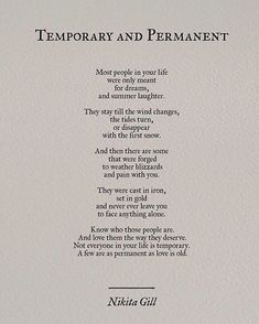 Quotes - Quotes - Not everyone is temporary Quotes Typography trend & inspiration  Preview – Quote    Description  Not everyone is temporary  – Source –