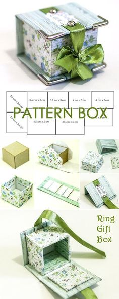 DIY project to create a ring gift box www.free-tutorial DIY project for creating a ring gift box www.free-tutorial … – Do It Yourself Craft Gifts, Diy Gifts, Handmade Gifts, Handmade Boxes, Handmade Bracelets, Handmade Items, Diy Paper, Paper Crafts, Paper Art