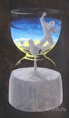 Sand-glass Surrealism Vladimir Pavljuk Original paintings for sale