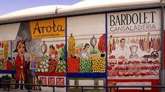 Exterior of municipal market in Tarragona (Carles Arola, artist).