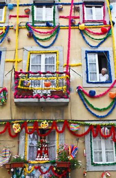 The Lisbon Festivities (June) street decorations #Portugal