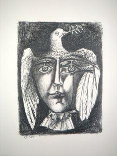 Pablo Picasso (1881-1973) Le Visage de la Paix 1951 www.denisbloch.com