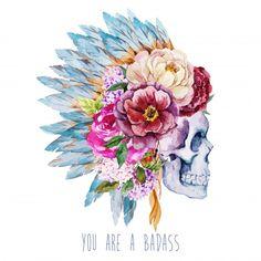 bad-ass-skull-flowers