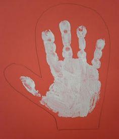 handprint mitten craft