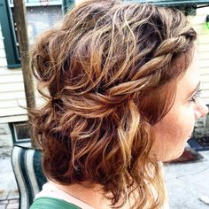 Today's hair inspiration: pinned back twist braid.