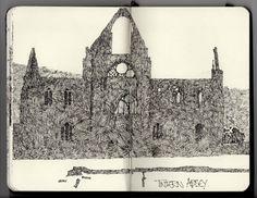 Ian Sidaway Fine Line: Tintern Abbey