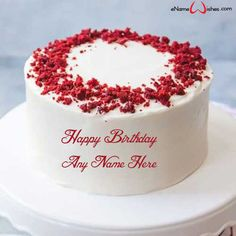 Beautiful Birthday Cake Images Download With Name Enamewishes In 2020 Cake Name Red Velvet Cake Birthday Cake Writing