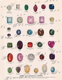 gems and precious stones....vintage encyclopedia by artdeco, $4.00