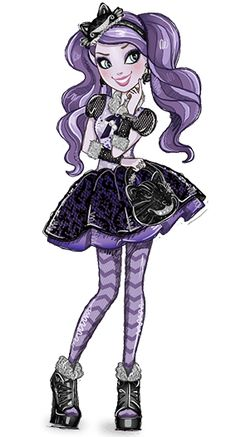 Kitty Cheshire - Ever After High Wiki | I haven't actually seen/read anything from the Ever After High series, but I stumbled upon Kitty Cheshire and I love the idea and look of her character. My favorite part is that distinctive Cheshire Cat grin she has, followed by the fact that she has cat pupils. She would make a fun cosplay. Can I cosplay from things I've never seen/read? Does that make me a poser? I feel like it would.