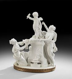 French Neoclassical Biscuit Figural Group