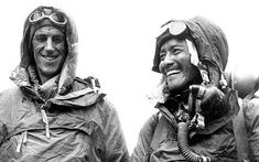 Sir Edmund Hillary (L) and Tenzing Norgay Sherpa smile after summitting the Mt. Everest in 1953: Mystery of who climbed Mount Everest to be solved